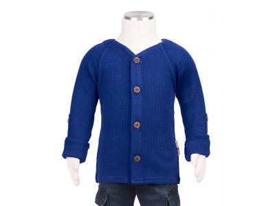 Manymonths kabátek merino 2018 - Jewel Blue