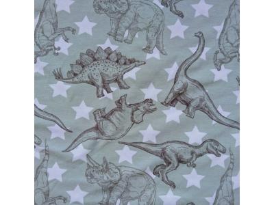Úplet šedý s dinosaury