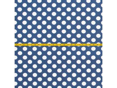 Úplet puntíky MIDI - jeans blue