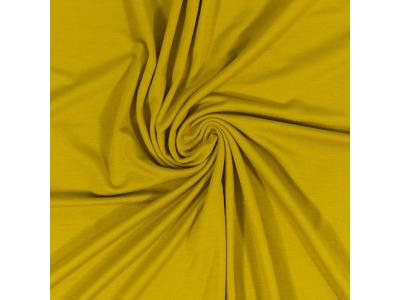 Bavlněný úplet - mosazná žlutá