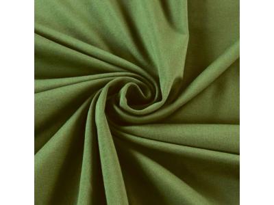 Bavlněný úplet - zelená khaki