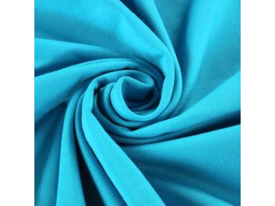 Bavlněný úplet - tyrkysová modrá