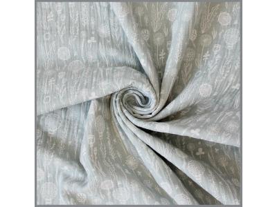 Mušelín z bavlny - Stříbrná louka