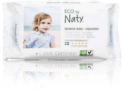 Naty Nature Babycare Vlhčené ubrousky bez vůně - pro citlivou pokožku (56 ks)