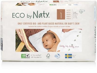 Naty Jednorázové eko plenky Newborn 2-5 kg (25 ks)