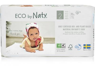 Naty Jednorázové eko plenky Mini 3-6 kg (33 ks)