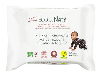 Naty Nature Babycare Vlhčené ubrousky bez vůně - pro citlivou pokožku (20 ks)