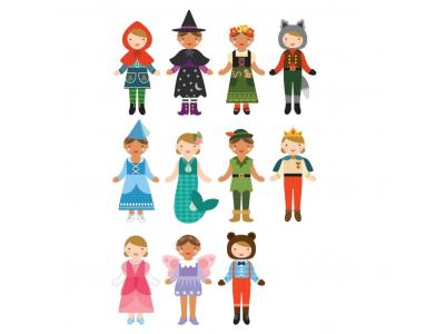 Petitcollage Magnetické puzzle - Pohádkové postavy