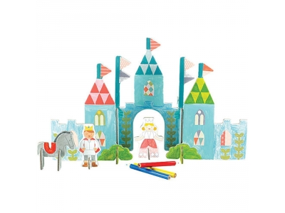 Petitcollage 3D puzzle - Zámek s barvami