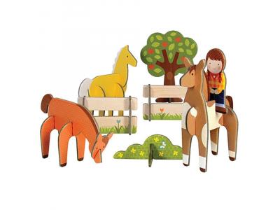 Petitcollage 3D puzzle - Koně