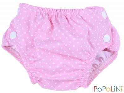Popoliny Plenkové plavky s UV filtrem - růžové s puntíkem