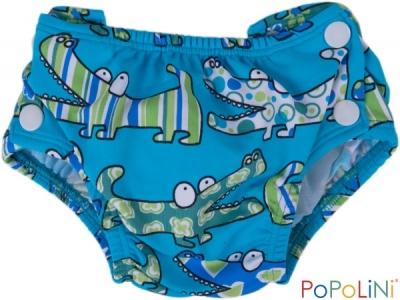 Popoliny Plenkové plavky s UV filtrem - modrý krokodýl