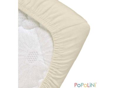 Popolini Prostěradlo z BIO bavlny 60x120/70x140 cm - bílé