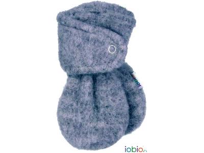IoBio Rukavice pro novorozence z vlněného flísu - šedé