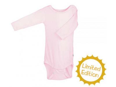 Iobio kojenecké body vlna / hedvábí - dlouhý rukáv, růžové