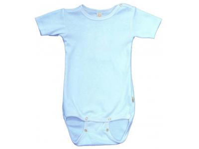 Iobio kojenecké body vlna / hedvábí - krátký rukáv, sky