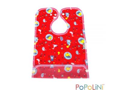 Popolini Bryndák s kapsou nepromokavý - Birdy Red