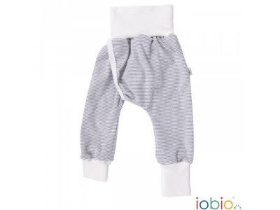 IoBio Kalhoty pro bezplenkovou metodu z BIO bavlny - přírodní proužek
