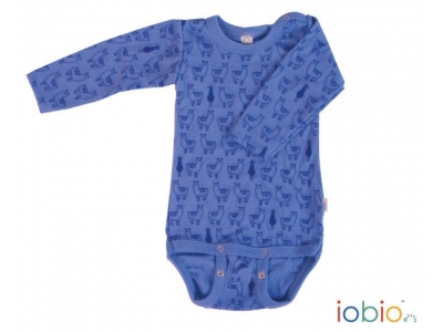 Iobio kojenecké body 100% vlna, dlouhý rukáv - Lama Jeans