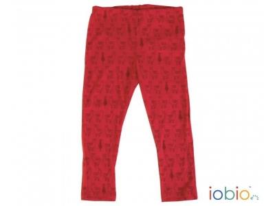 IoBio Kalhoty - legíny, 100% merino vlna - Lama Red