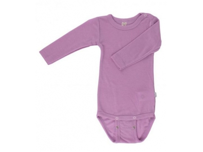 Iobio kojenecké body vlna / hedvábí - dlouhý rukáv, lilac