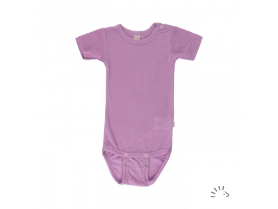 Iobio kojenecké body vlna / hedvábí - krátký rukáv, lilac