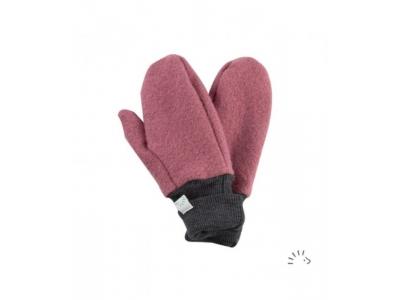 IoBio Rukavice palčáky z MERINO vlny - rosa