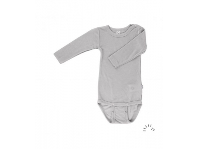 Iobio kojenecké body vlna / hedvábí - dlouhý rukáv, grey