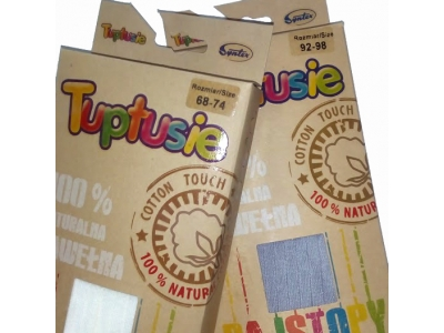 Tuptusie bavlněné dětské punčocháče 68/74
