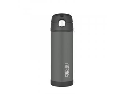 Thermos FUNtainer - dětská termoska 470 ml - černá