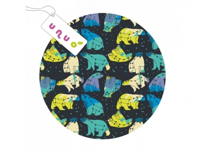 UNUO Sada separačních plen 3 ks (Fleece liner) - Bear