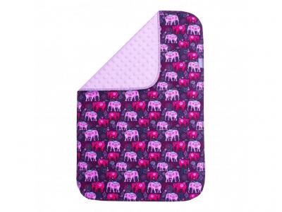 UNUO Přebalovací podložka, 60x 60 cm - Pink Elephants