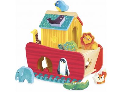 Vilac Vkládací motorická hračka Archa zvířat