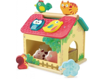 Vilac Vkládací hračka Farma se zvířátky