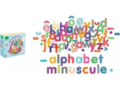 Vilac Dřevěná magnetická abeceda, 81ks